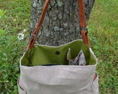 Canvas diaper bag/ tote