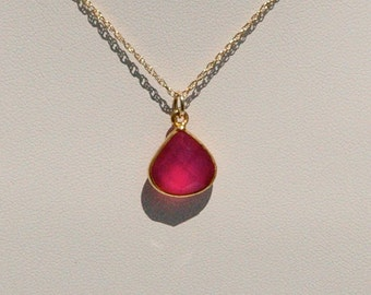 Rubellite and Gold Necklace