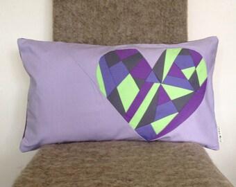 Geometric Cushion Cover Patchwork Heart modern