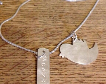 Personalised Twitter necklace