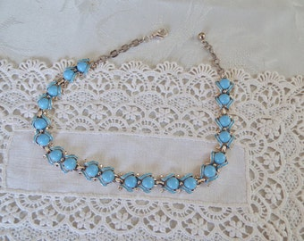 Lovely Vintage Blue Necklace, Retro, Mid Century