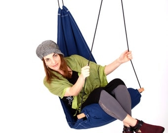 Hanging Chair Hammock Swing for Indoor / Outdoor / Patio / Lounge / Porch color Navy Blue (Hang Basic Model) SALE 129 instead of 139