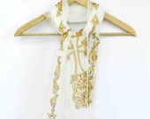 Christian cross silk scarf . Hand painted cross. Religious symbol of Christianity . Made to order.