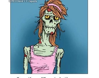 Melancholy Greetings - Zombie sympathy greeting card (blank inside)