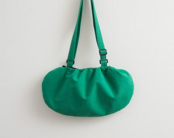 Faux / Vegan Suede Bag Purse Minimalist Bag Hipster Style Eco Friendly Bag Bright Green Bag Eco Bag Modern Bag Gift For Her Crossbody Bag