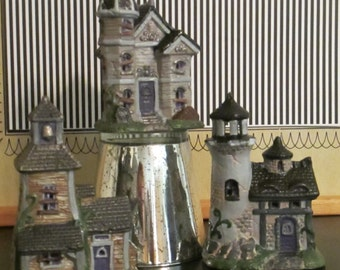 Haunted Halloween Village-Set of Three