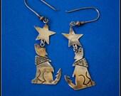 sterling silver howling coyote earrings