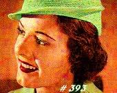 Vintage 1936 Jazzy Jockey Hat 393 PDF Digital Crochet Pattern