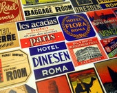 STEAMTRUNK LABELS - 22 Reproduction Travel Labels based on Vintage Foreign Luggage Tags, Suitcase Stickers & Souvenirs, Sticker Pack