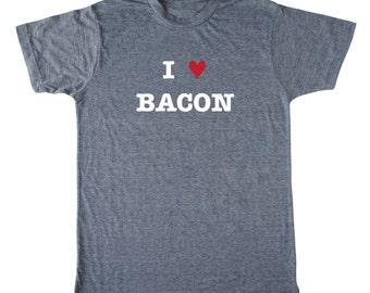 I Heart Bacon men's bacon shirt, bacon t-shirt, foodie t-shirt, chef shirt, paleo shirt, crossfit t-shirt, funny men's t-shirt,butcher shirt