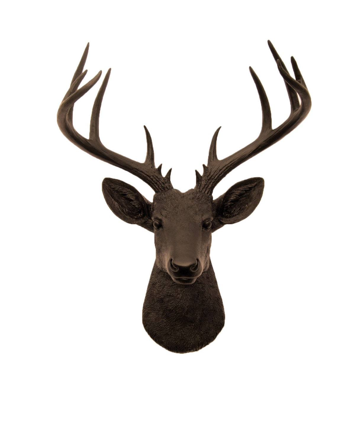 white faux taxidermy faux deer head the xl by whitefauxtaxidermy. Black Bedroom Furniture Sets. Home Design Ideas