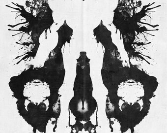 Samus Aran Metroid Geek Psychological Diagnosis Ink Blot Museum Quality Giclèe Art Print