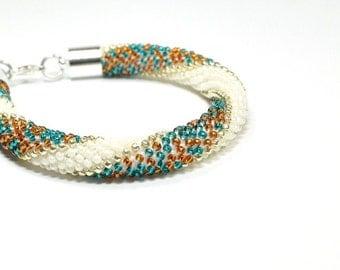 Seed Bead Bracelets. Beaded Bracelet. Bead Crochet Bracelet. Rope Bracelet. Bangle Bracelet.