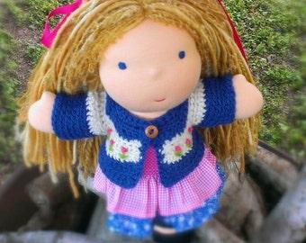 Waldorf Doll - blonde - Waldorf Doll Dress and Sweater - Brynn