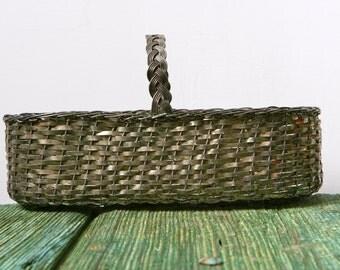 Italian woven silver basket