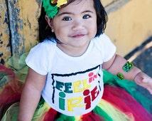 Rasta One Love Headband | Red Yellow Green Headband | Rasta Baby Headband | One Love Headband and Tutu