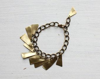 GLADIATOR chain bracelet - Reclaimed brass