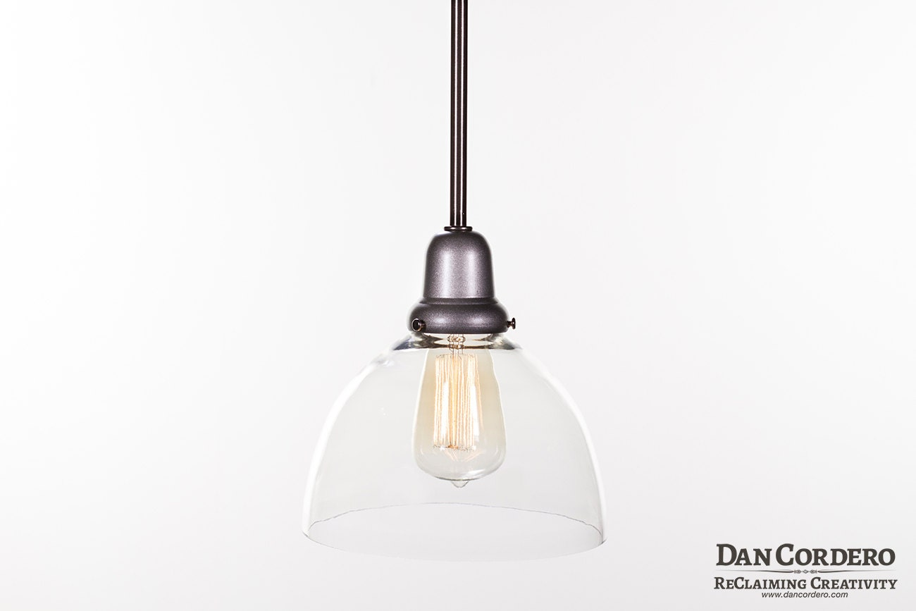 Pendant Light Fixture Edison Bulb Brushed Nickel Pendant