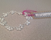 Frosted Charm Ball Anklet