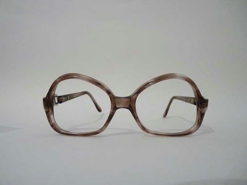 Eyeglass Frames Italian Company : Italian 1970s eyeglasses Brown & Silver roundy frames for