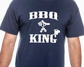 BBQ King. Summer shirt. Gift for dad, t shirt for dad, birthday gift, uncle, boyfriend, bbq t shirt, funny t shirt, cooking, grandfather