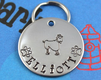 Customized Metal Dog Tag - Unique Pet ID Tag - Hand Stamped - Custom Dog Name Tag - No Machines Used