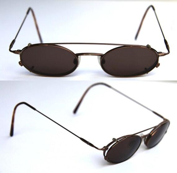eyeglasses rx clip on sunglasses w bridge by cherryrevolver