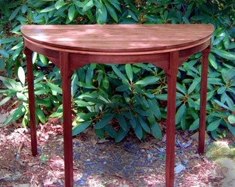 "Elegant ""Deco Minima"" Half Circle Display Table, Entry Table, Console Table,"