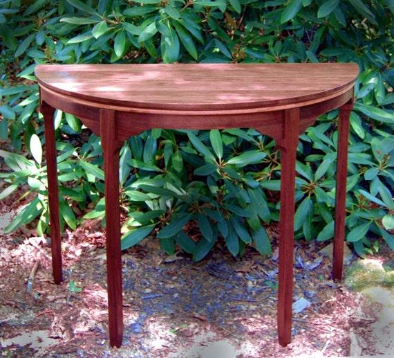 "Elegant ""Deco Minima"" Half Circle Display Table, Entry Table, Console Table,"