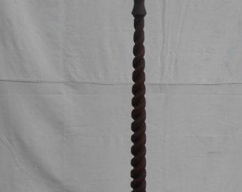 Antique Handmade Floor Lamp Hand Turned with Lathe Barley Twist Design