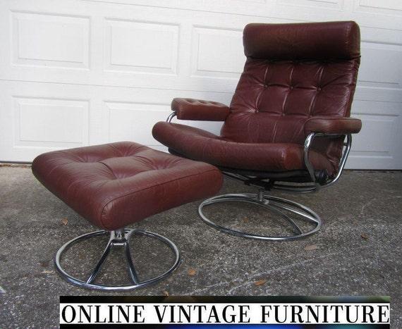 Ekornes norway lounge chair vintage mid by onvintagefurniture for Norwegian vintage office chair