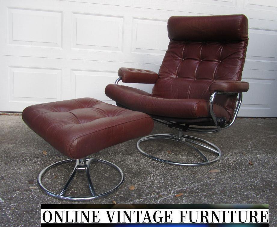 Ekornes Norway Lounge Chair Vintage Mid Century Midcentury