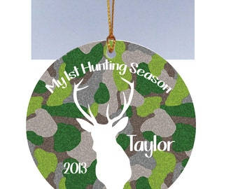 Personalized Christmas Ornament My 1st Hunting Season