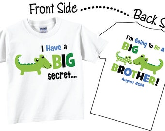 I'm Going To be A Big Brother Shirts and Tshirts Alligator Tees
