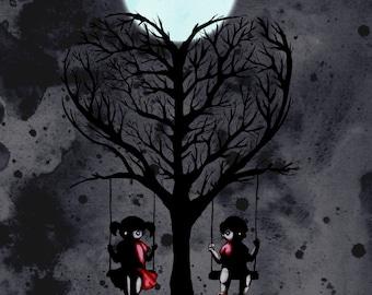 Love Tree Pen Fine Art Print