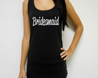 Bridesmaid Tank. Bride Tank Top. Mother of the Bride Tank. Bridesmaid Tank Top. Maid of Honor Top. Bridal Party Tank Top
