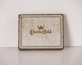 Rusty Tobacco Tin ~ Chesterfield Cigarette Case Vintage 1940-50s
