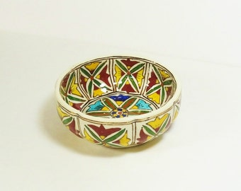 Vintage Hand-Painted Italian Ceramic Bowl