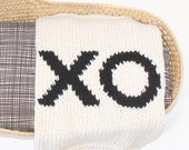 XO Baby Blanket for Bassinet, Stroller, or Car Seat Hand Knit