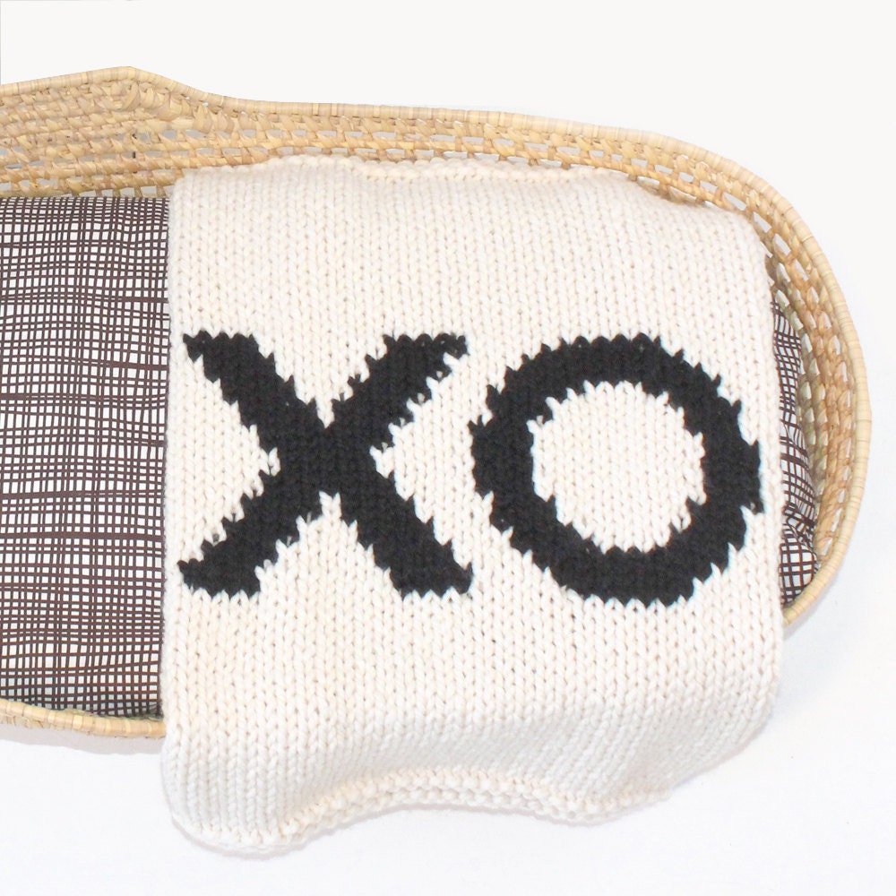 Knitting Pattern For Bassinet Blanket : XO Baby Blanket for Bassinet Stroller or Car Seat by ...