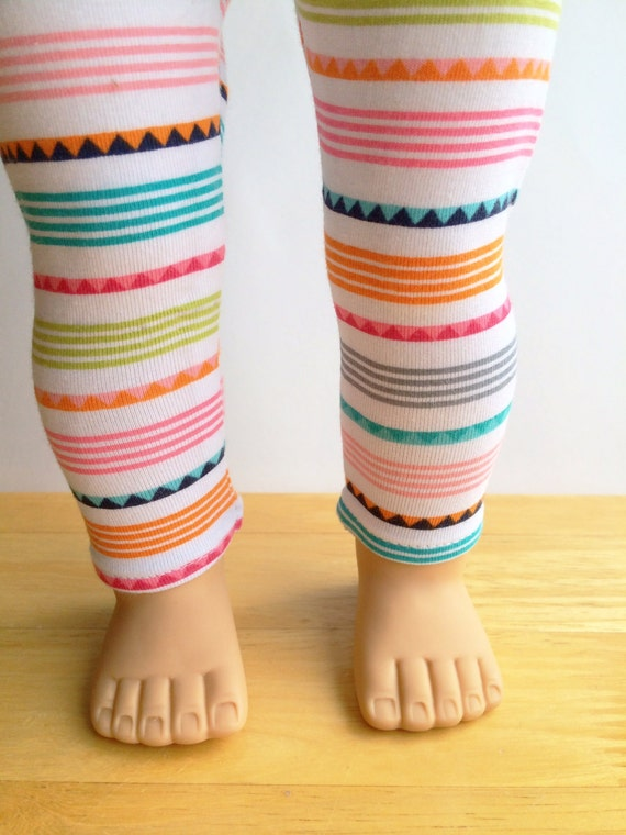 "American Girl 18"" Doll Clothes Geometric Striped Stretch Leggings"