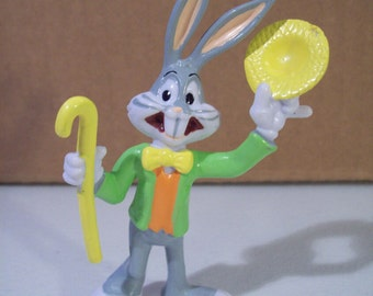 Vintage Looney Tunes Bugs Bunny Carnival Barker Showman Pvc Figure, 1988 Applause, Cake Topper
