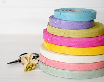 """12 Yards - Mix and Match Cotton Ribbon - 100% Cotton Ribbon - 1/2"""" Wide - Eco Friendly Ribbons -Cotton Trims - Choose 4 colors - DIY Wedding"""