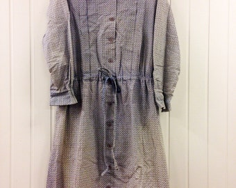 Vintage Marimekko Dress Shirt dress / Size 46, 18, XL / 1960 Finland