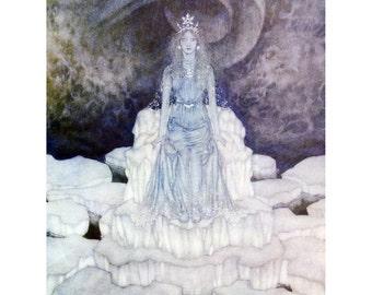 Snow Queen Fabric Block - Hans Andersen Fairy Tales - Edmund Dulac