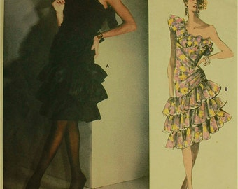 Cocktail Dress by Givenchy- 1980's - Vogue Paris Original Pattern 1702   Size 8  Bust 31.5""