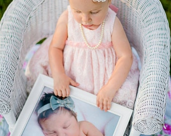 Baby Headband Rose flower headband baby girl headband baby bow pearl rhinestone newborn headband