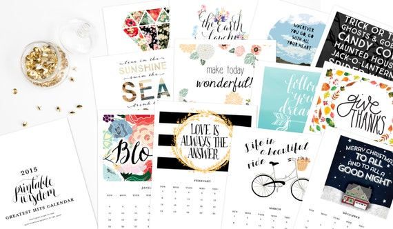 Diy Quote Calendar : Printable calendar inspirational quotes