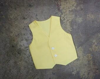 Yellow Vest Modern Baby Boy Newborn Toddler Ring Bearer Vest