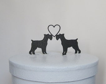 Wedding Cake Topper - Schnauzer  Dogs Topper